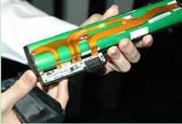 Open laptop battery