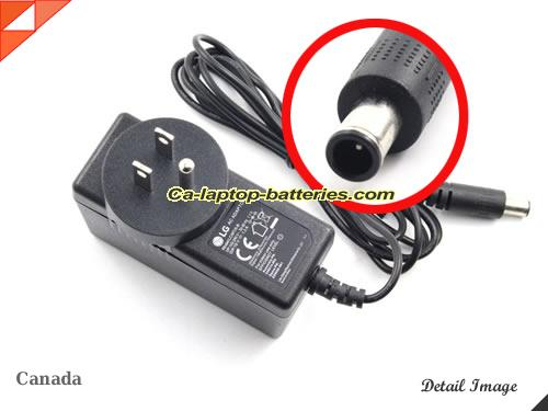 image of LG ADS-40FSG-19 ac adapter, 19V 1.3A ADS-40FSG-19 Notebook Power ac adapter LG19V1.3A25W-6.0x4.0mm-US-C