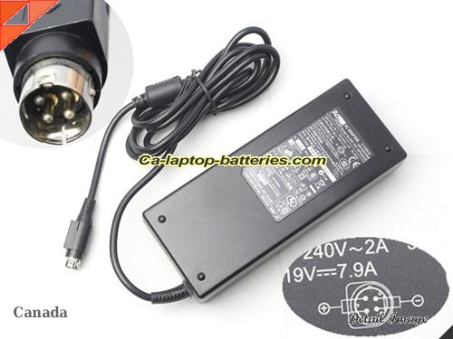 image of ACBEL APL3AD25 ac adapter, 19V 7.9A APL3AD25 Notebook Power ac adapter ACBEL19V7.9A150W-4PIN