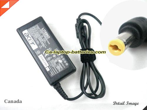 ACER 2024WLCI adapter, 19V 3.42A 2024WLCI laptop computer ac adaptor, ACER19V3.42A65W-5.5x1.7mm-RIGHT-ANGEL