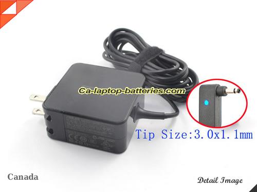 ASUS 19V 2.37A  Notebook ac adapter, ASUS19V2.37A45W-3.0x1.1mm-US
