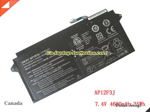 Genuine ACER S7-391-53314G AWS Battery For laptop 4680mAh, 7.4V, Black , Li-Polymer