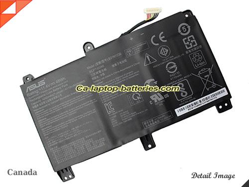 Genuine ASUS FX505GD-BQ111T Battery For laptop 4210mAh, 48Wh , 11.4V, Black , Li-Polymer