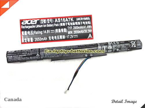 Genuine ACER ASPIRE F 15 - 573 Battery For laptop 2800mAh, 41.4Wh , 14.8V, Black , Li-ion