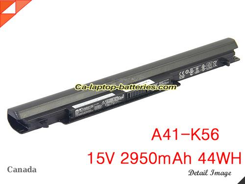 Genuine ASUS C550CB Battery For laptop 2950mAh, 44Wh , 15V, Black , Li-ion