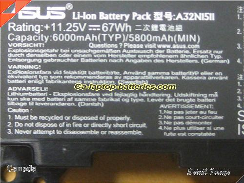 image 2 of B07HQ5J3Q4 Battery, Canada New Batteries For ASUS B07HQ5J3Q4 Laptop Computer